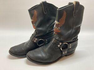 Harley Davidson Moto Biker Harness Engineer Leather Goodyear Boots Sz 10 1/2?