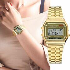 Montre chic LED ACIER inoxydable WATERPROOF luxe alarme chrono doré business