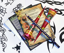 Henna Mehndi Tattoo Kit  cool, designs easy to use, great starter gift twb