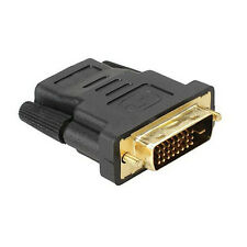 DVI-D (24+1) 25 Pin Male To HDMI Female Adapter Connector Plated Stylish HD HDTV