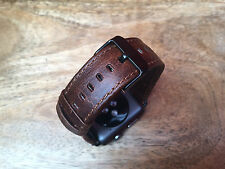 Quality Vintage Coffee Leather Watch Strap Band for Apple Watch 38mm Series 1/2