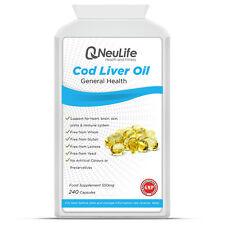 Aceite de hígado de bacalao - 550mg - 240 Cápsulas