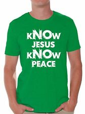 Know Jesus Know Peace T shirts Shirts Tops  Men's Christian Faith