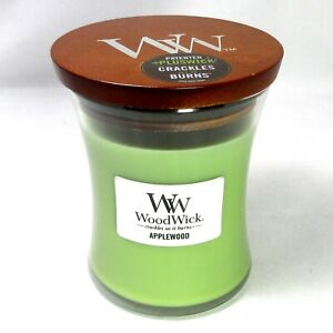 WoodWick AppleWood Scented Jar Candle 9.7 oz Crackles as it Burns
