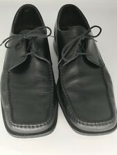 Loake mens black leather formal shoes office shoes smart shoes lace up size 7.5