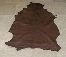 (Haa9503) Hide of Brown Printed Lambskin Leather Hide Skin