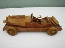 """Vintage Handcrafted Handmade 15"""" Wooden Antique Classic Race Car Collectible"""