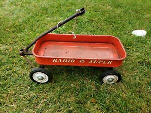 Vintage Original Toy SUPER RADIO FLYER Red Wagon 50th ANNIVERSARY RARE LOGO