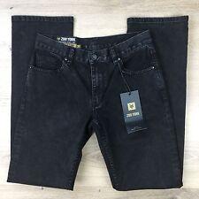 Zoo York Manhattan Straight Black Denim NWT RRP$99 Men's Jeans Size 30 L33 (T1)