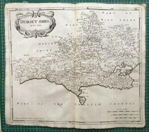 1695 Antique Morden County Map of Dorset - from Camden's Brittania