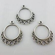 12pcs Tibetan Silver Necklace/Earring Connectors Charms Pendants 24x29mm