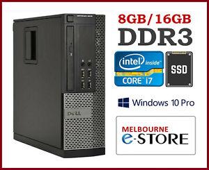 (Refurb) Dell Optiplex 9020 SFF i7-4770 8GB/16GB RAM 240GB/480GB SSD Win10Pro PC