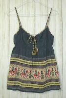 Anthropologie Corey Lynn Calter Egyptian Print Silk Tank Top Size 6