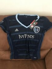 Adidas Kansas City Sporting MLS Soccer Jersey NWT Size L Womens