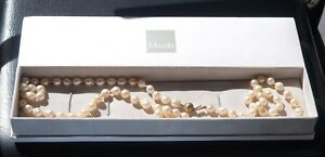 Misaki Cultured Pearl Necklace with 9ct Gold Clasp, 78 x 7mm Pearls
