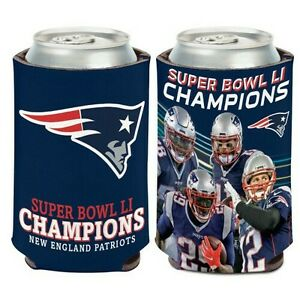 NEW ENGLAND PATRIOTS SUPER BOWL LI CHAMPIONS CAN BOTTLE COOZIE KOOZIE COOLER