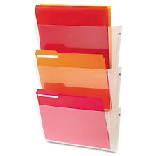 deflect-o Unbreakable Wall File Set, Letter, 3 Pocket, Clear, ST - DEF63601RT