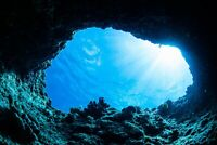 A1 | Underwater Cave Poster Art Print 60 x 90cm 180gsm Dive Diver Fun Gift #8539