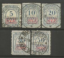 GERMAN OCCUPATION OF ROMANIA. 1918. No Wmk Postage Due Set. SG: D1B/5B. FU - CTO