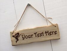 Handmade Personalised Rustic Wooden Fairy Child's Room Treehouse Den Sign Plaque