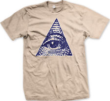 Eye Pyramid Symbol Free Mason Money Cash Dollar Bill Secret Cult Men's T-Shirt