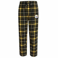 NFL Pittsburgh Steelers Men's Flannel Plaid Pajama Pant with Team Logo - M