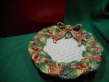 Fitz and Floyd Holiday Swan Canape Plate