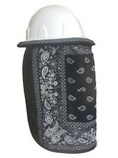 Hard Hat Neck Shade Protector Black Bandana Sunshade
