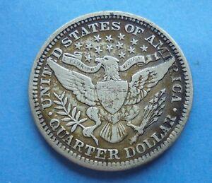 United States, 1903, Barber Quarter Dollar, as shown.