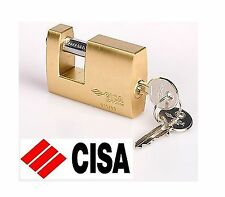 CISA 63mm SOLID BRASS PADLOCK, KEYED ALIKE SHUTTER, CONTAINER TYPE PADLOCK - NEW