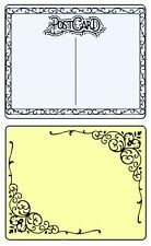 Sizzix Flourish & Post Card Emboss 2pk set #657666 MSRP $10.99 by Rachel Bright