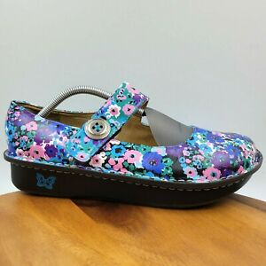 Alegria Paloma Floral Leather Comfort Mary Jane Clog Shoes Women's 42 / 11.5-12