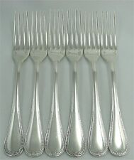 Christofle modèle Malmaison, 6 fourchettes de table, excellent état.