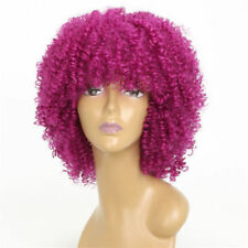 14inch Long Kinky Curly Wigs For Black Women African Synthetic Full Head Wig