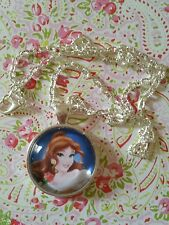 Belle Beauty and the Beast Image Pendant Necklace Disney Character Princess Rose