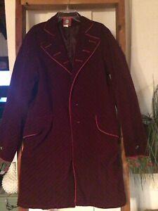 Willy Wonka Chocolate Factory Johnny Depp Jacket Vest 2pc Costume Velvet Sz Xl