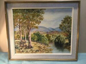 Joan Row Summers Day Framed Oil Painting