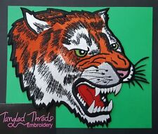 "Tiger, Wild Animal, Exotic Cat Embroidered Patch 8.8""x 8"""