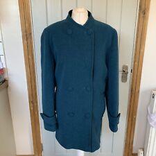 EWM Pure Classics Size 16 Wool Cashmere Blend Coat Blue / Green & Black Flecked