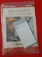 Husqvarna Viking Designer II 2 Stitch d-Card H1 Scallop Stitches d card