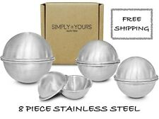 8 Piece Stainless Steel Lush Style Bath Bomb Mold Metal Kit Press Fast Shipping