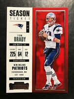 Tom Brady 2017 Panini Contenders #95 Wolverines Patriots Buccaneers