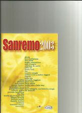 SANREMO 2003 - ACCORDI E TESTI  - BMG - CARISCH