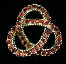 LUCKY LAMBDA SYNTHETIC RUBY BROOCH (M656)  Wear For Luck!!!