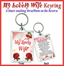 MY LOVELY WIFE Keyring Gift Valentines Day 4 Her/Partner/Luv/Love/Heart/Friend U