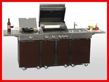Coobinox Edelstahl Gasgrill 4 Brenner CHOCO Außenküche Grill Griller Grillwagen