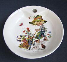 Assiette Chaude Bouillie BEBE en Porcelaine Revol décor Enfant Jardinier
