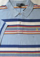 New Polo Ralph Lauren Blue Multi Color Striped Cotton Mesh Polo Shirt / XLT