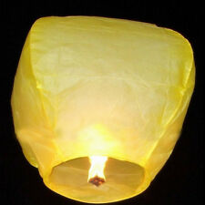 20Pcs White Paper Chinese Lanterns Sky Fly Candle Lamp for Wish Party Wedding w/