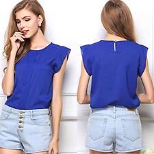 Summer Women Loose Casual Chiffon Sleeveless Vest T Shirt Top Blouse Ladies Tops